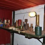 Exhibition of artifacts found near the bunker Bunker Museum